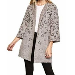 Cupcakes & Cashmere Leopard Cheetah Open Cardigan